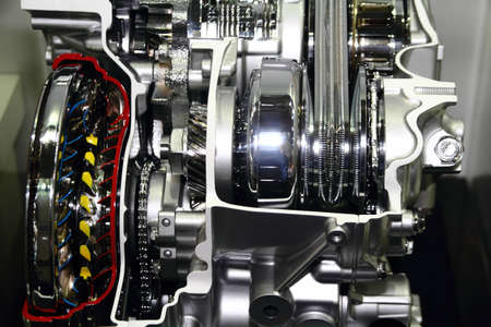 Automotive transmission gearbox with lots of details Stock Photo - 13534722