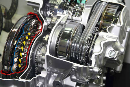 Automotive transmission gearbox with lots of details photo