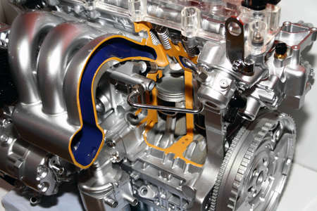 Complex engine of modern car inter view Stock Photo - 13534721
