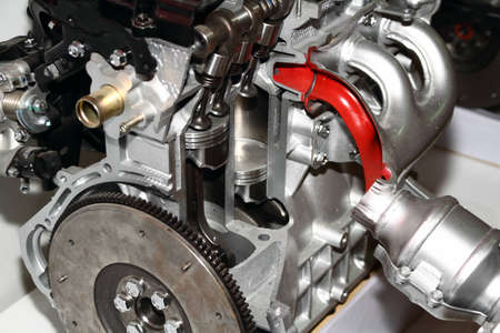 Complex engine of modern car interior view Stock Photo - 13534724