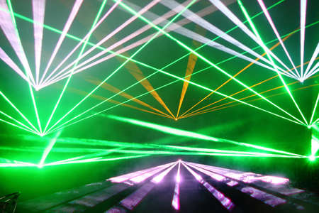 Colourful Disco with special effects and fantastic laser show Stock Photo - 13866310