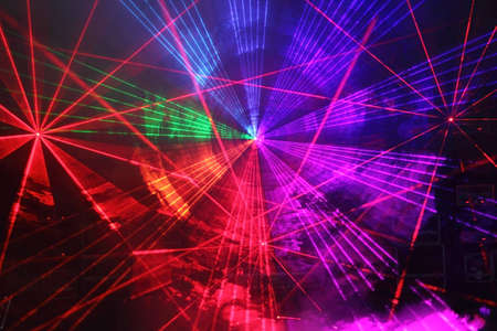 light show: Colourful Disco with special effects and fantastic laser show