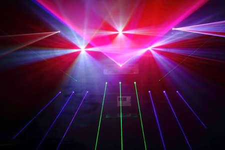 efectos especiales: Disco colorido con efectos especiales y espect�culos de l�ser fant�stica Foto de archivo