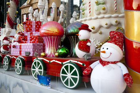 Large luxury Christmas decoration in outdoor Stock Photo - 16747471