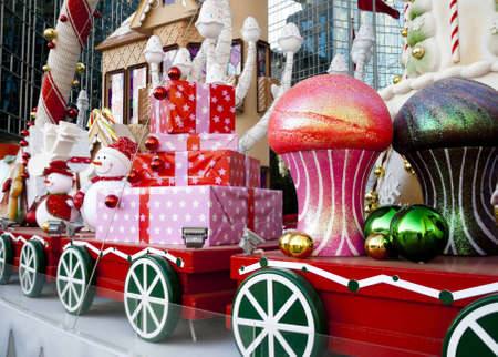 Large luxury Christmas decoration in outdoor photo