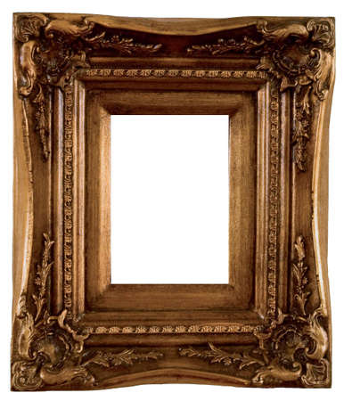 framing: Old-fashioned baquet on a white background.