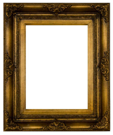 picture framing: Old-fashioned baquet on a white background.