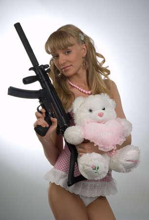 sexy army: Girl Stock Photo
