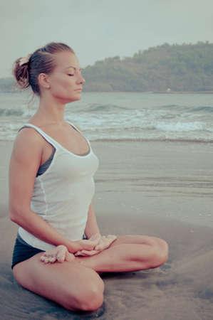 pranayama: Yoga Stock Photo