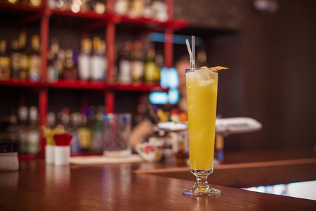 happyhour: Alcohol coctail drink on the table in restaurant