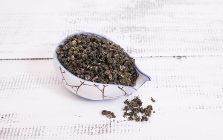 Dry loose natural organic chinese tea for slimming Stock Photo