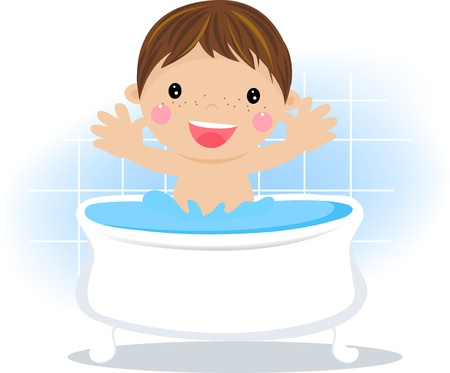 Boy in the bath