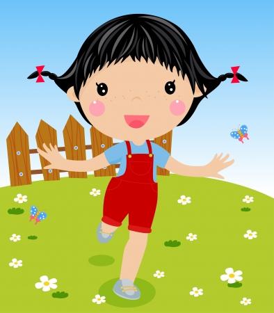 cute girl: cute girl running