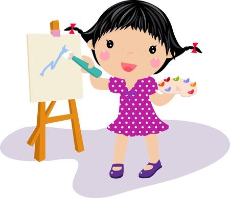kids drawing: Kids Drawing - Vector
