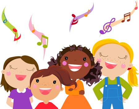 child singing: Kids Singing -