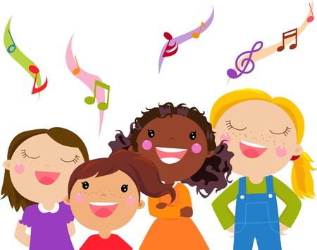Kids Singing - Stock Vector - 14849929