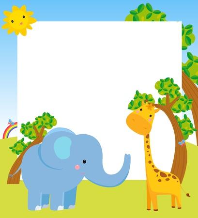 giraffe frame: animal and frame