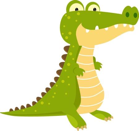 croc: crocodile  Illustration
