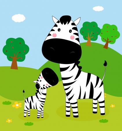 africa child: zebra