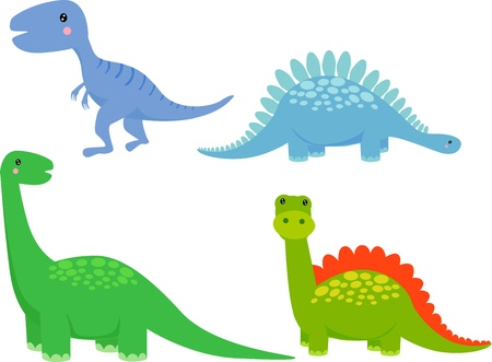 cute dinosaur vector set  Vector
