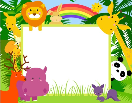 animal and frame  Vector