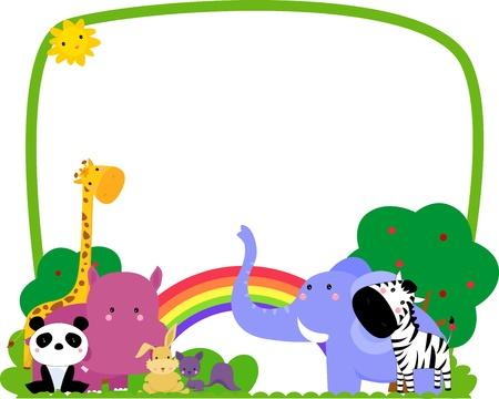 hippopotamus: animales marco