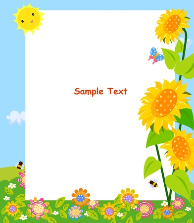 animal border: flower frame