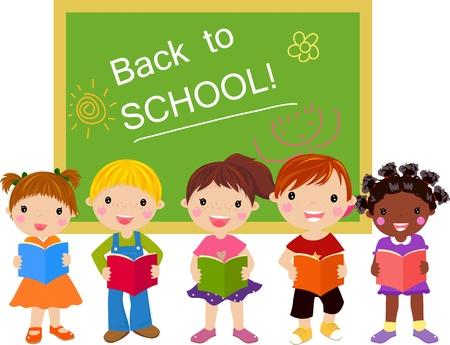 niños estudiando: volver a la escuela