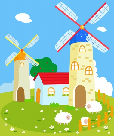 edifice: A country house  Illustration