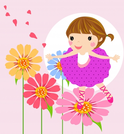 beauty little girl  Stock Vector - 14862450