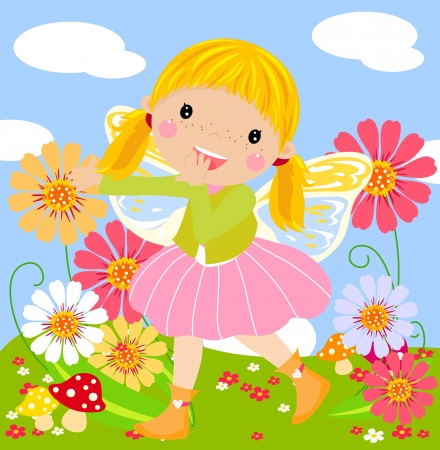 Cute fairy Stock Vector - 14861442