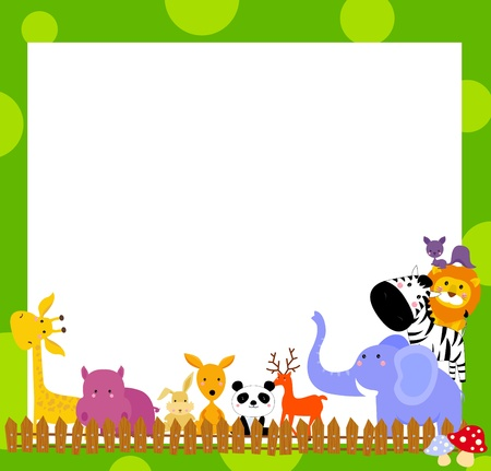 animal and frame Stock Vector - 14861003