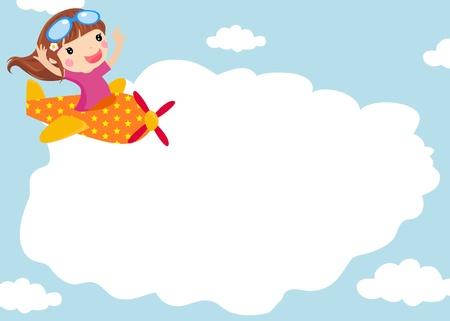 cute girl cartoon: little girl