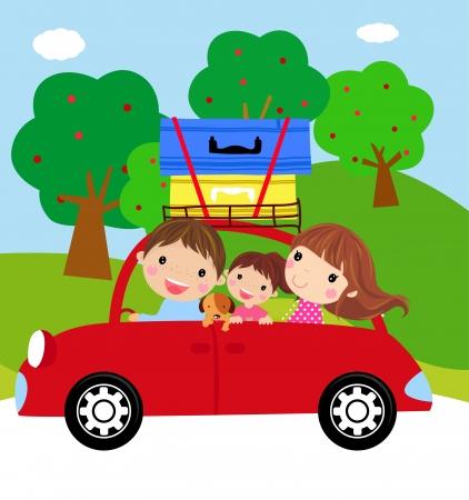 carro caricatura: Tiempo de vacaciones