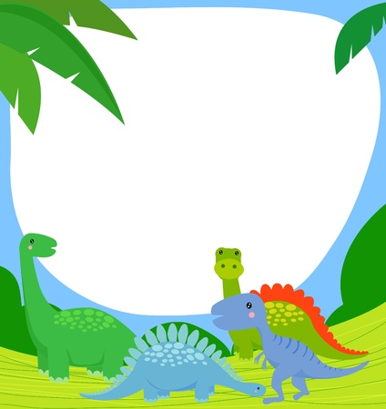 dinosaur and frame  Vector