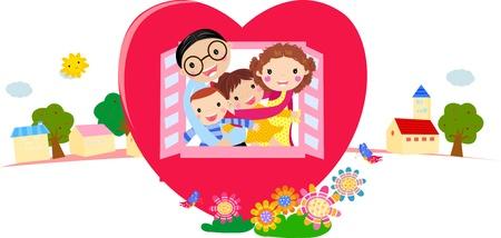 Ilustraciones vectoriales familia
