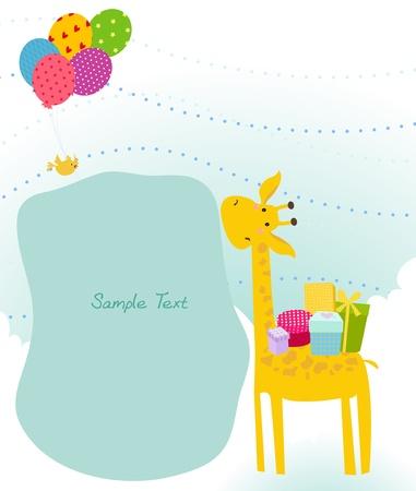 giraffe frame: Giraffe frame VECTOR  Illustration