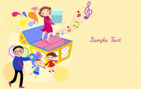 boite a musique: bo�te de la famille et de la musique