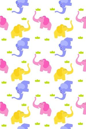 animal themes: Stock Vector Illustration  Seamless cute elephant background  Illustration