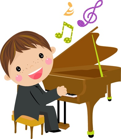 鋼琴: 卡通黑板