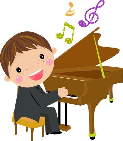 klavier: cartoon Tafel