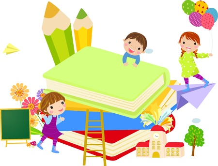 college girl: kids and book