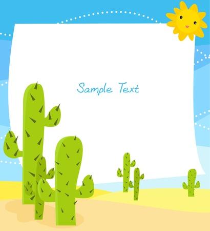 cactus in desert clip-art  Vector