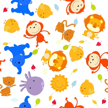 seamless background with animal Stock Vector - 14999111