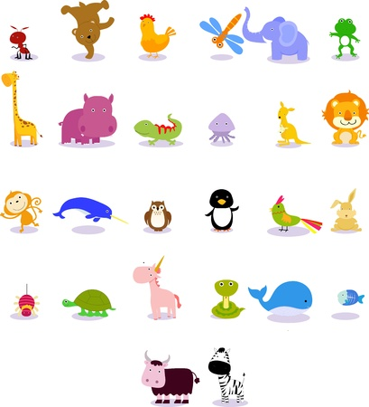 Animals from animal alphabet Vector