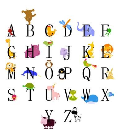 illustrated: Animals from animal alphabet