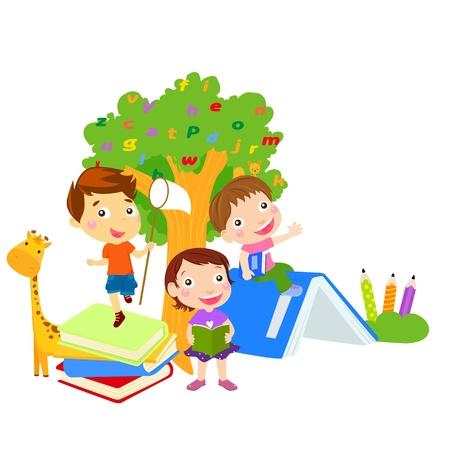 Vector children: Nhóm của trẻ em