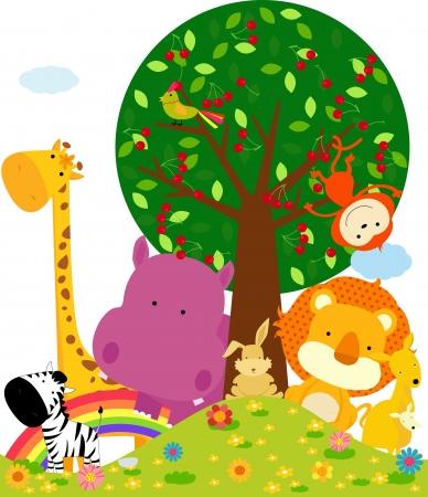 struś: zwierzę Ilustracja