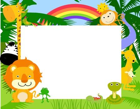 dier en frame Stock Illustratie