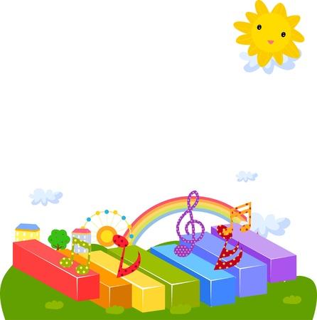 piano: música de fondo Vectores